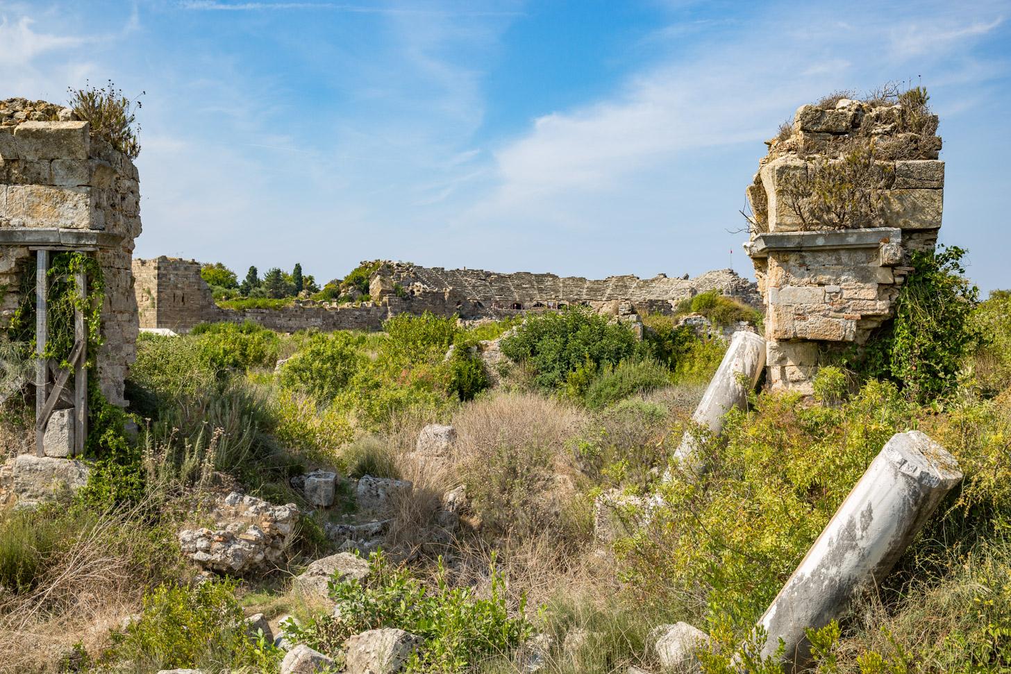 De antieke stad Side