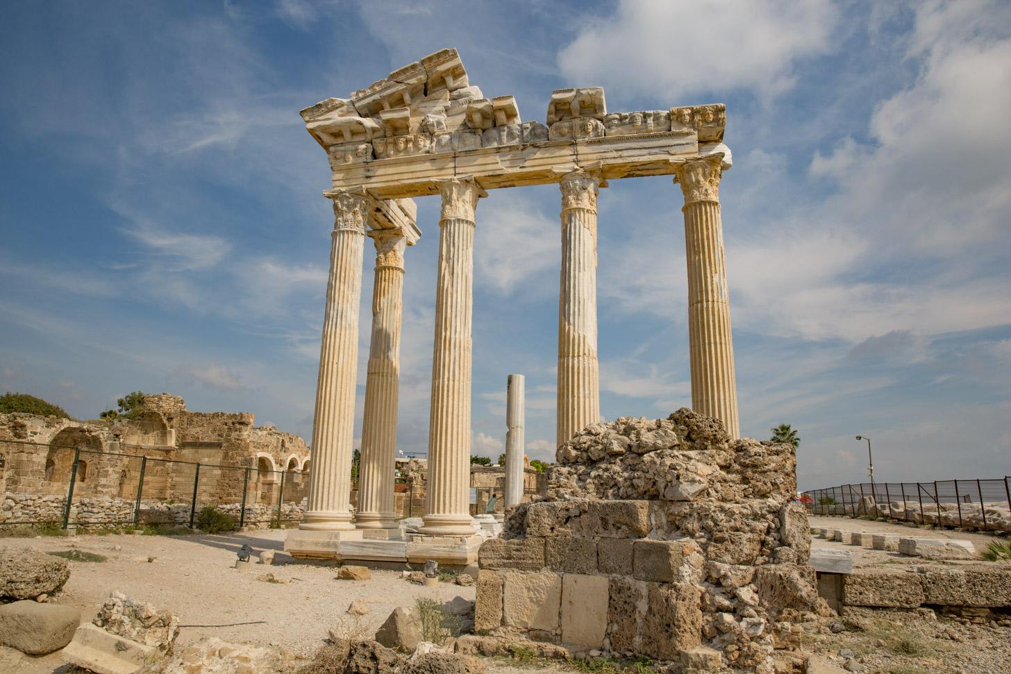 Tempels van Apollo en Athene